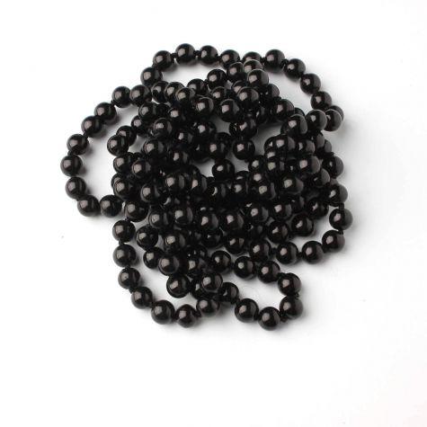 Collana lunga di perle nere