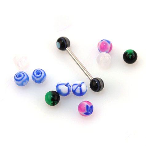 Set barretta con sfere multicolor