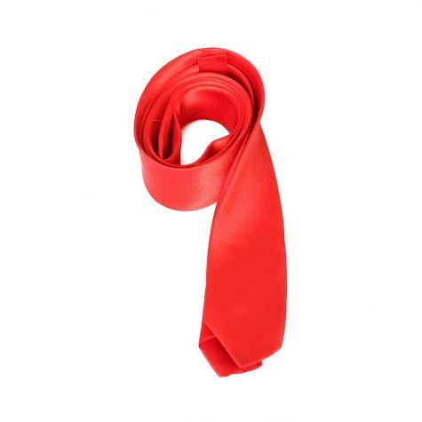 Cravatta in raso color rosso