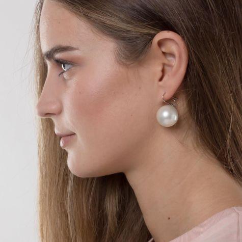 Orecchini monachella con perla grande