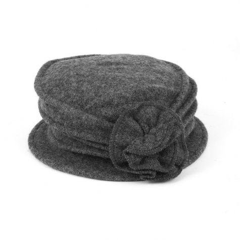 Cappello in lana con fiore