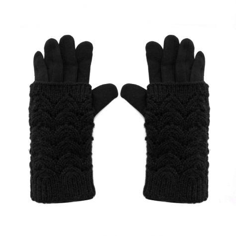 Guanto nero tricot