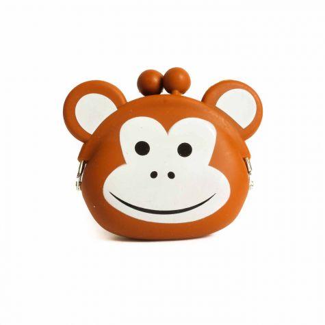 Portamonete scimmia in gomma