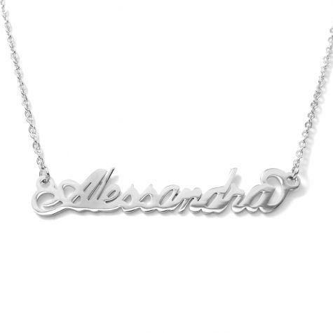 Collana con nome Alessandra con catenina sottile a ovali regolabile