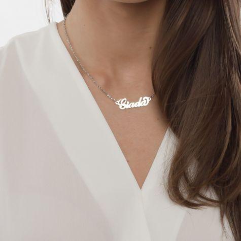 Collana con nome Giada con catenina sottile a ovali regolabile