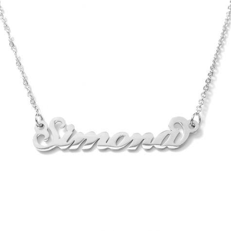 Collana con nome Simona con catenina sottile a ovali regolabile