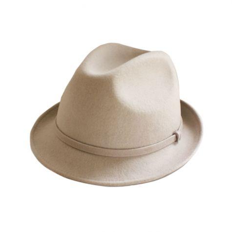 Cappello borsalino con cinturino in lana