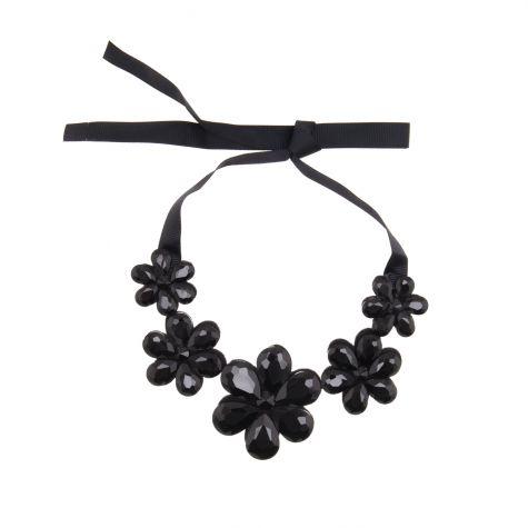 Collana colletto con 5 fiori