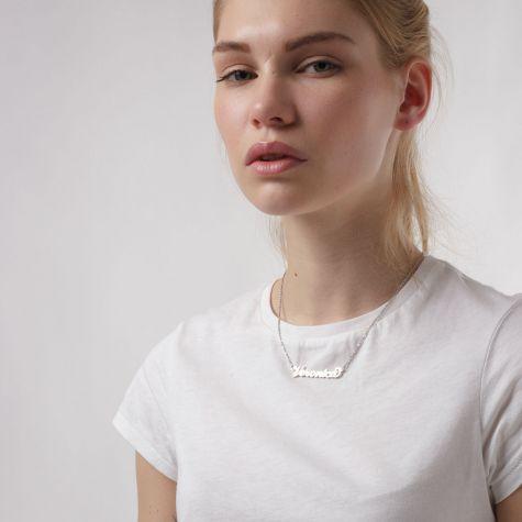 Collana con nome Veronica con catenina sottile a ovali regolabile