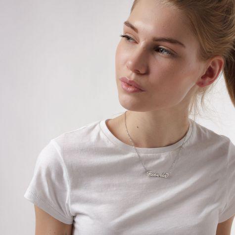 Collana con nome Roberta con catenina sottile a ovali regolabile