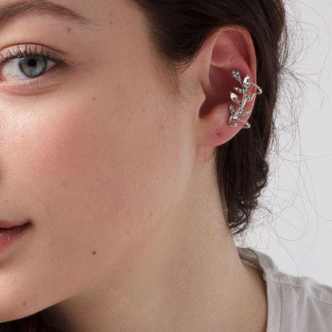 Ear cuff con fiore