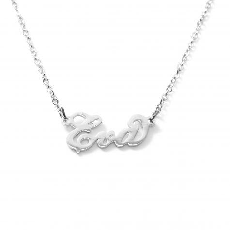 Collana con nome Eva con catenina sottile a ovali regolabile