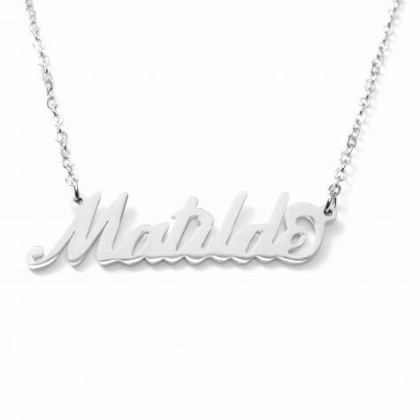 Collana con nome Matilde con catenina sottile a ovali regolabile