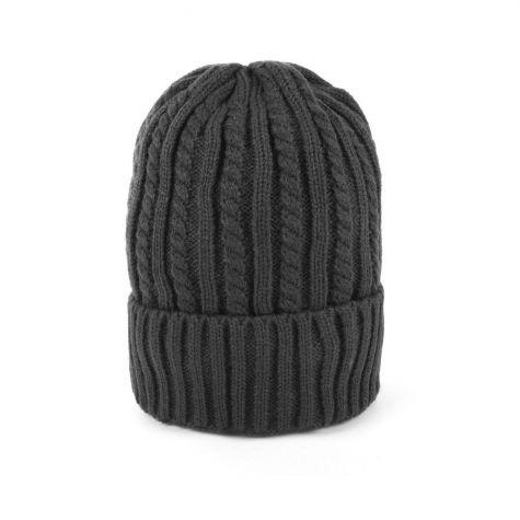 Berretto tricot color grigio scuro