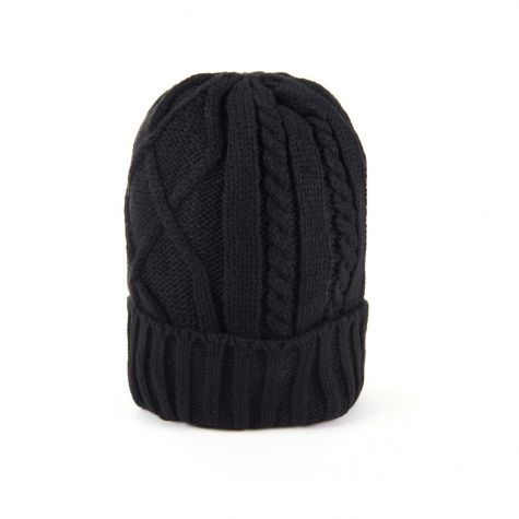 Berretto tricot color nero