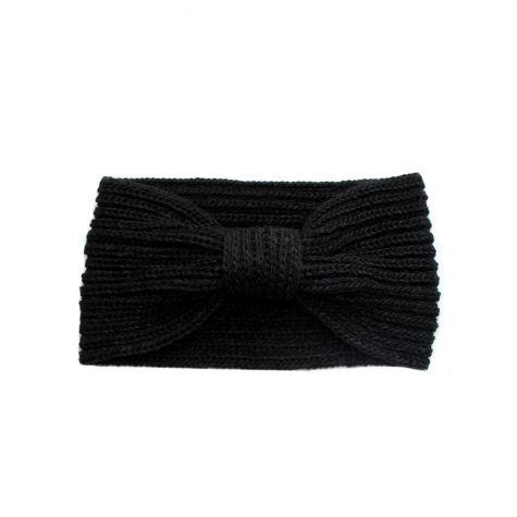Fascia per capelli in lana con nodo