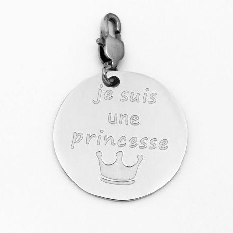 "Ciondolo ""Je suis une princesse"""