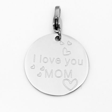 "Ciondolo ""I love Mom"""