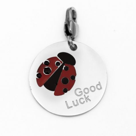 "Ciondolo ""Good Luck"" e coccinella"