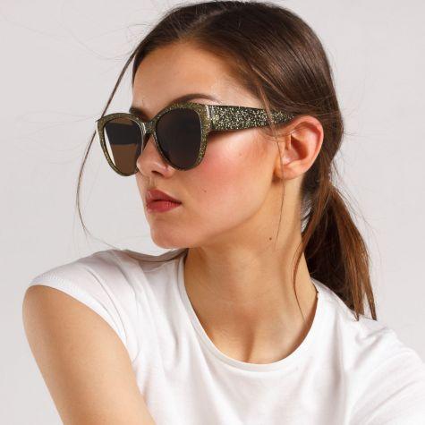 Occhiale con montatura glitterata