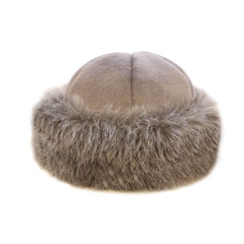Cappello toque montone color beige
