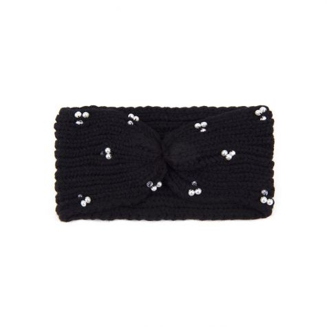 Fascia lavorazione tricot con perle