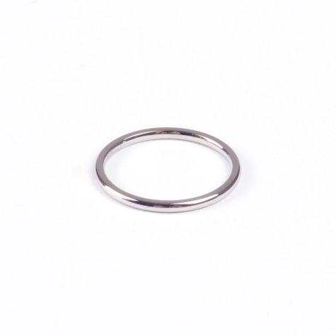 Anello fedina in acciaio color argento