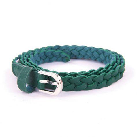 Cintura treccia alta 1.5 cm color verde