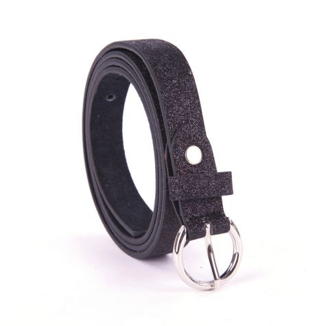 Cintura glitter alta 2 cm color nero