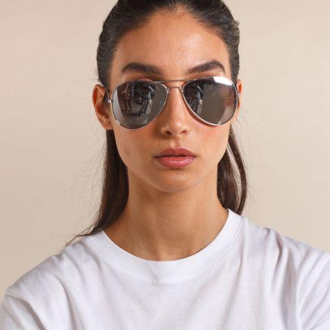 Occhiale goccia lente argento
