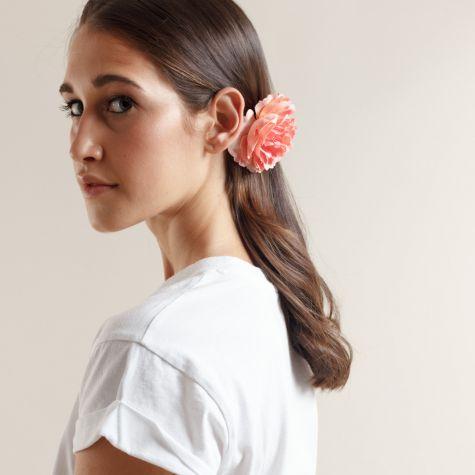 Spilla -fermacapelli con fiore color rosa