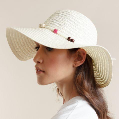 Cappello pamela color beige