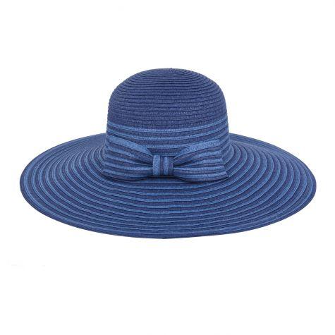 Cappello fiocco color blu