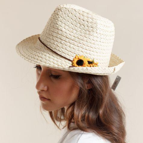 Cappello borsalino con girasoli