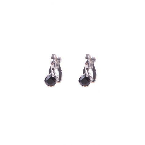 Orecchini clips Ear Cuff punto luce nero