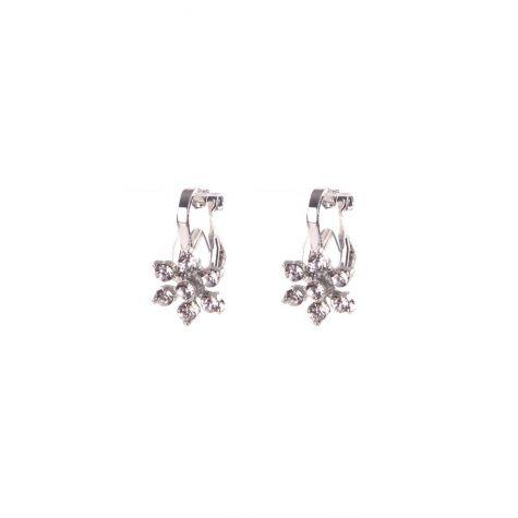 Orecchini clips Ear Cuff fiore crystal