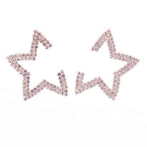 Orecchini stella con strass color oro