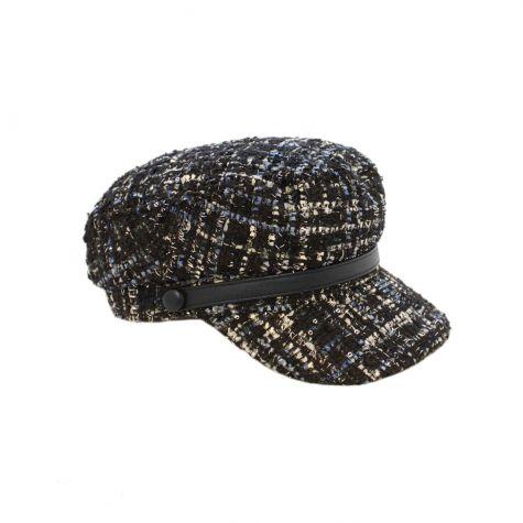 Cappello baker bouclè e filo lurex