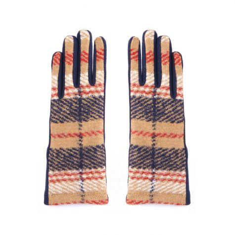 Guanti in lana cotta scozzese