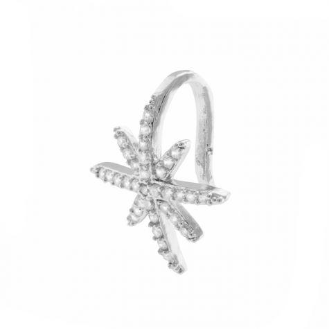Ear cuff stella zirconia cubica