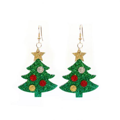 Orecchini con albero di Natale
