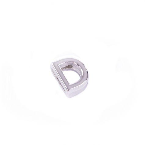 Ciondolo lettera D color argento