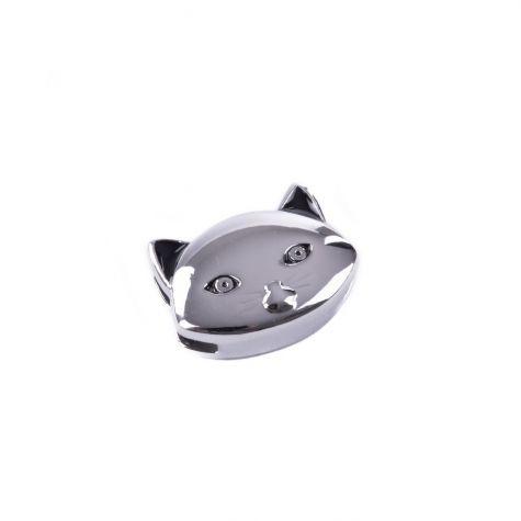Ciondolo gattino color argento