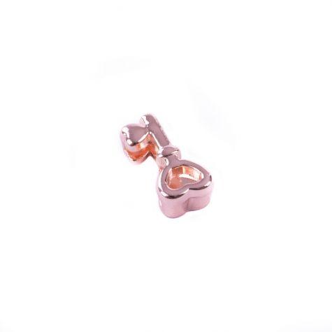 Ciondolo chiave dell'amore color oro rosato