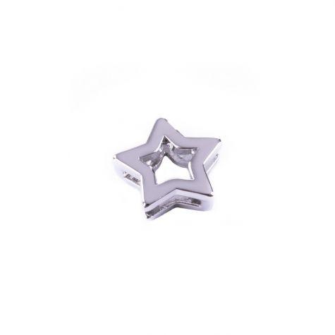 Ciondolo stella color argento