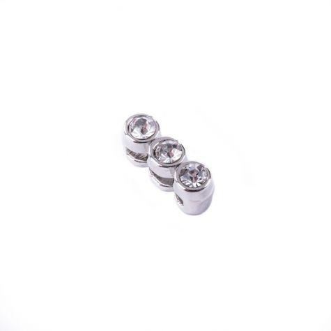 Ciondolo divisorio 3 strass color argento