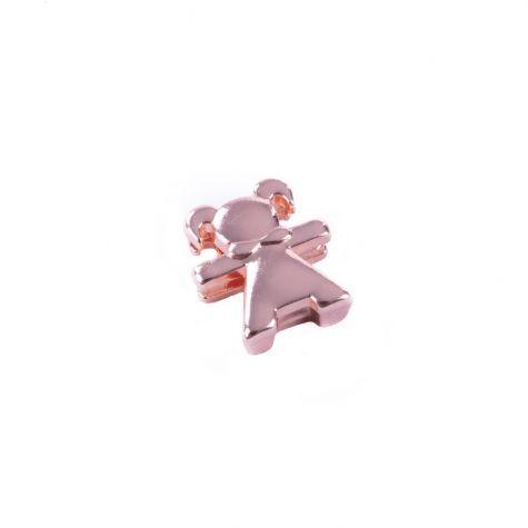 Ciondolo bimba color oro rosato