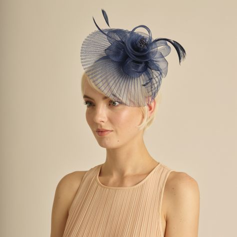 Fascinator color blu