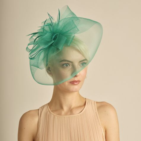 Fascinator color verde