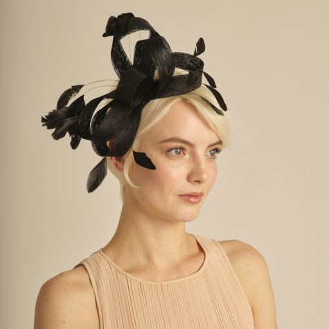 Fascinator color nero